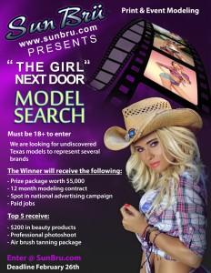 Girl Next Door Model Search Flyer