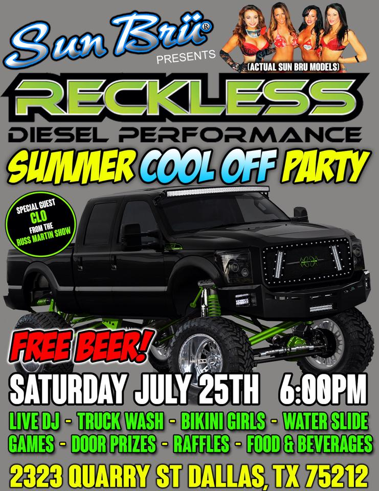 Reckless Diesel Performance Summer Cool Off Party
