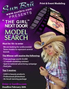 Girl Next Door Model Search Flyer